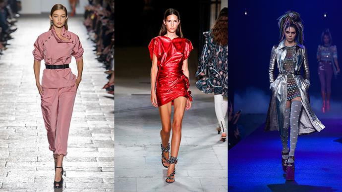 """From army fatigues to Slim Aarons' worthy floral prints and an '80s glam renaissance, trends are in the air for Spring. <br><br> <strong>Via:</strong> <em><a href=""""http://www.harpersbazaar.com/fashion/fashion-week/g8002/spring-2017-runway-fashion-trends/"""">HarpersBAZAAR.com</a></em>"""