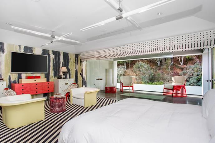 One of the seven bedrooms.