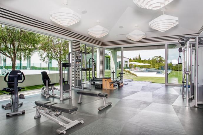 The home gym.