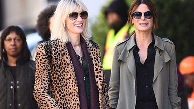 The First Pictures of Cate Blanchett and Sandra Bullock on the Set of 'Ocean's Eight' Are Here