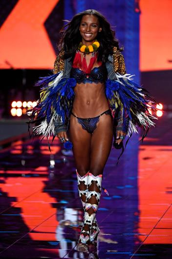 Name: Jasmine Tookes Age: 25 Nationality: American Number of Victoria's Secret shows walked: 4 Made an Angel in: 2015