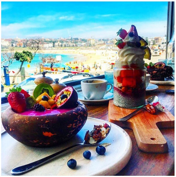 """<strong><a href=""""http://www.speedoscafe.com.au/"""">Speedos</a></strong> <br><br> <strong>Location:</strong> North Bondi <br><br> With their jumbo dishes, fresh colourful food and the ideal Bondi view, this is the perfect post-dip breakfast. <br><br> <a href=""""https://www.instagram.com/p/BDBmafuyTaf/  """">@speedoscafe</a>"""