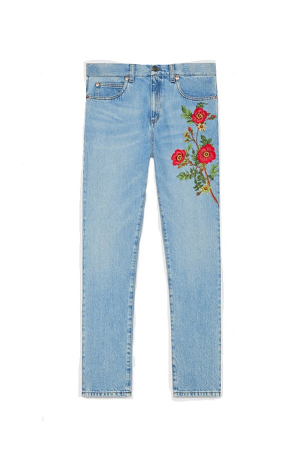 """<strong>Summertime denim</strong><br><br> The new season update: In 2016, nobody does embellishment like Alessandro Michele at Gucci. These should convince you to break your 'no jeans in summer' rule.<br><br> Buy: Embroidered jeans by Gucci, $1,170, <a href=""""https://www.gucci.com/au/en_au/pr/women/womens-ready-to-wear/denim/embroidered-denim-pant-p-456956XR4574425?position=2&listName=ProductGridComponent&categoryPath=Women/Womens-Ready-to-Wear/Denim"""">Gucci</a>"""