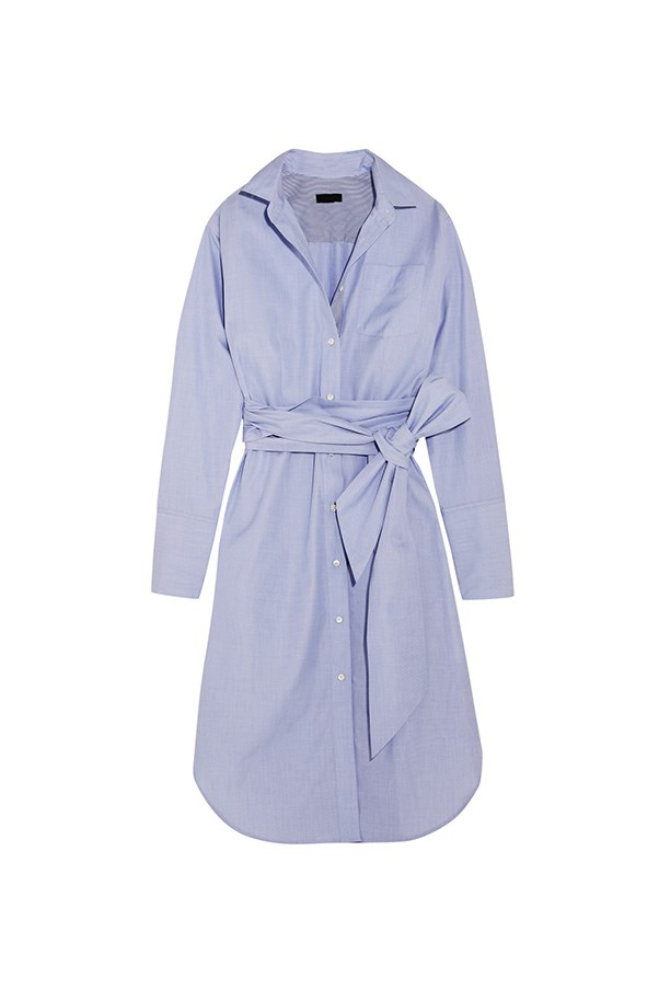 "<strong>A beach-side appropriate dress</strong><br><br> The classic: Does it get more classic than a powder blue shirt dress?<br><br> Buy: Cotton dress by J. Crew, $355, <a href=""https://www.net-a-porter.com/au/en/product/743496/JCrew/-thomas-mason-sybil-cotton-dress"">Net-a-Porter</a>"