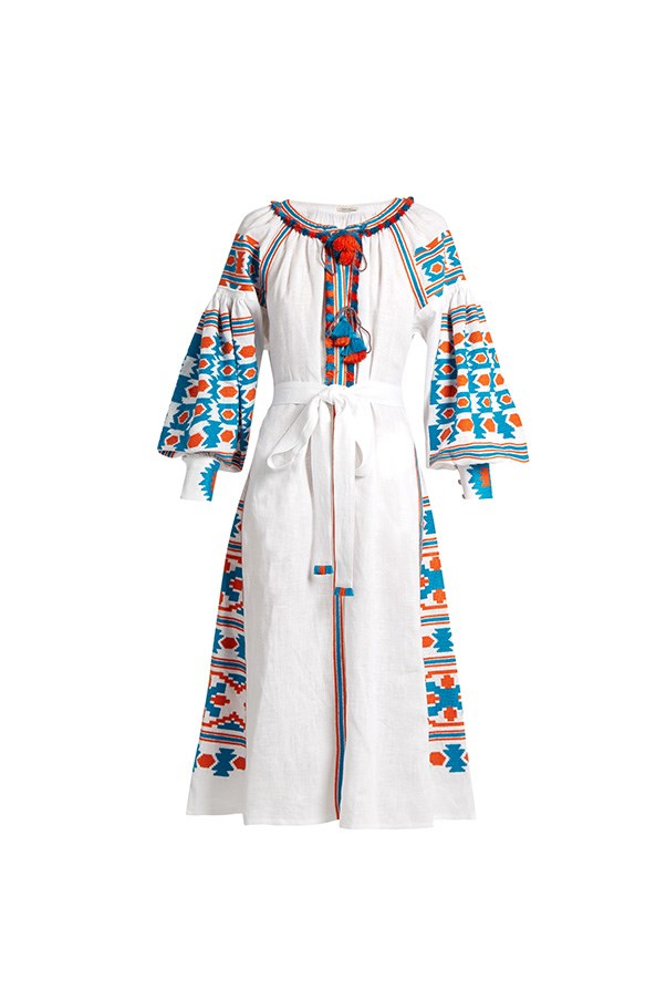 """<strong>A beach-side appropriate dress</strong><br><br> The single season trend: Trust us when we see that you will be seeing these incredible embroidered linen dresses everywhere this summer.<br><br> Buy: Midi dress by Vita Kin, $2,749, <a href=""""http://www.matchesfashion.com/au/products/1050693"""">Matches Fashion</a>"""