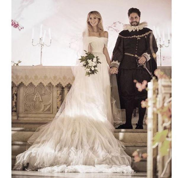 """<strong>The bride in Brandon Maxwell and the groom</strong><br><br> Instagram: <a href=""""https://www.instagram.com/p/BMPg6U3hszO/?taken-by=brandonmaxwell"""">@brandonmaxwell</a>"""