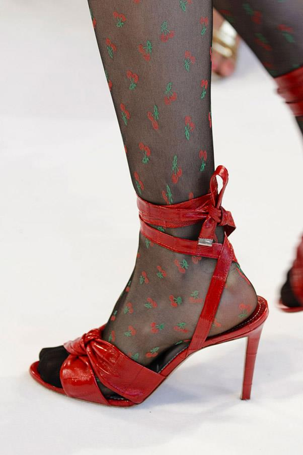 <strong>All Wrapped Up</strong> <br><br> These shoes put the emphasis—and the accoutrement—on the ankle. From ruffles at Saint Laurent to buckles at Attico, wrap it up. <br> Pictured: Altuzarra