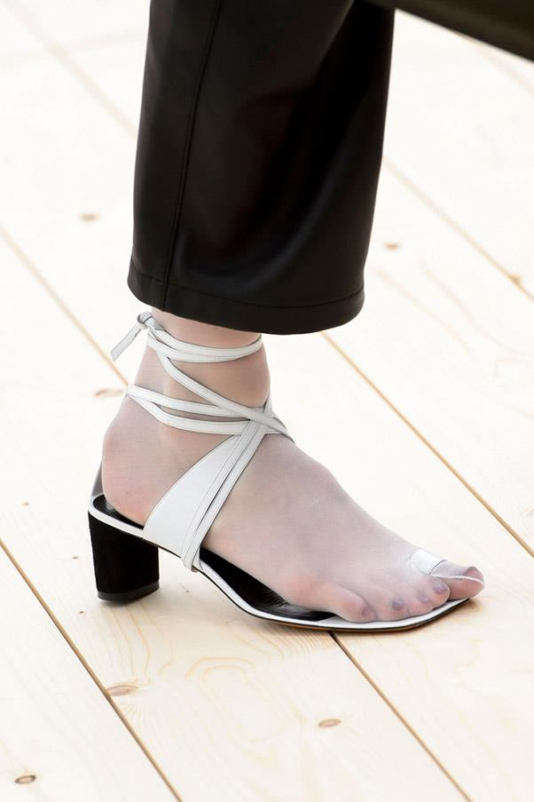 <strong>Hello, Kitty</strong> <br><br> The kitten heel has never been cooler, with sleek versions of the ladylike staple from Phoebe Philo at Celine, a logo-ed version at Dior and a party shoe from Miu Miu. <br> Pictured: Céline
