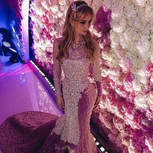 <strong>The extravagant wedding dress</strong><br><br> Wedding two: Salome Kintsurashvili in Elie Saab.<br><br> Image: Instagram