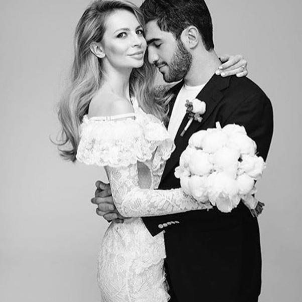 <strong>The extravagant wedding dress</strong><br><br> Wedding two: Salome Kintsurashvili in Alessandra Rich.<br><br> Image: Instagram