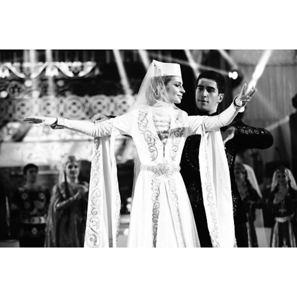 <strong>The second, traditional wedding dress</strong><br><br> Wedding two: Salome Kintsurashvili<br><br> Image: Instagram