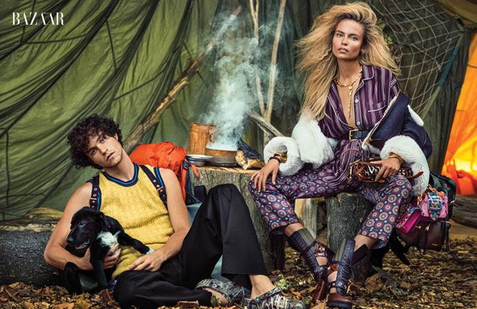 Your first look at <em>BAZAAR</em>'s global fashion director Carine Roitfeld's 'Into the Wild' editorial. See the full spread in the December issue of <em>Harper's BAZAAR</em> Australia, on sale Monday November 14th.