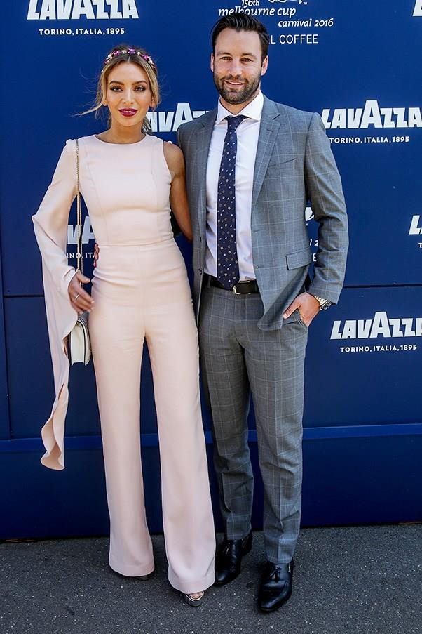"""<strong>Nadia and Jimmy Bartell, Crown Oaks Day</strong> <br><br> <em>""""The jump suit worn well.""""</em> — Pete Harrison, group commercial category manager"""