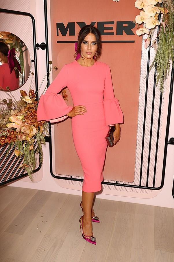 """<strong>Jodi Gordon, Crown Oaks Day</strong> <br><br> <em>""""That pink, wouldn't work on most people but Jodi pulls it off with ease.""""</em> — Pete Harrison, group commercial category manager"""