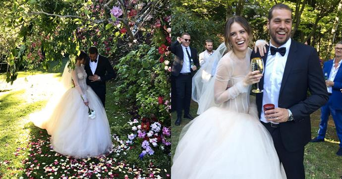 After their engagement in 2014, Jesinta Campbell and Buddy Franklin have tied the knot in a stunning Queenstown ceremony. Here, all the images from their gorgeous nuptials so far.