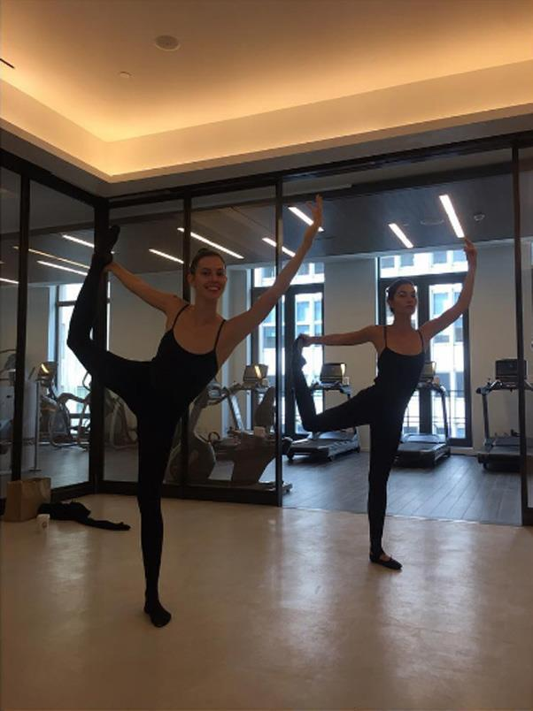 """Lily Aldridge <Br><Br> Aldridge swears by ballet for her toned bod, her regular spot even has an 'accelerated Angel plan' which both Aldridge and Doutzen Kroes are on. <br><br> Instagram: <a href=""""https://www.instagram.com/lilyaldridge/"""">@lilyaldridge</a>"""