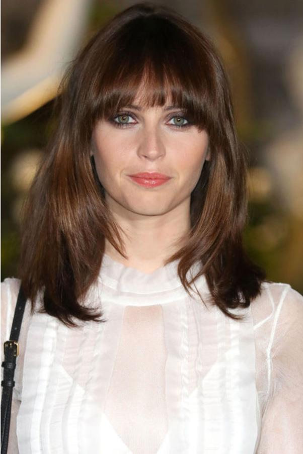 <strong>5. Big Bang</strong><br><br> The not-too-perfect blowout on Felicity Jones keeps her cut from looking vintage-inspired.