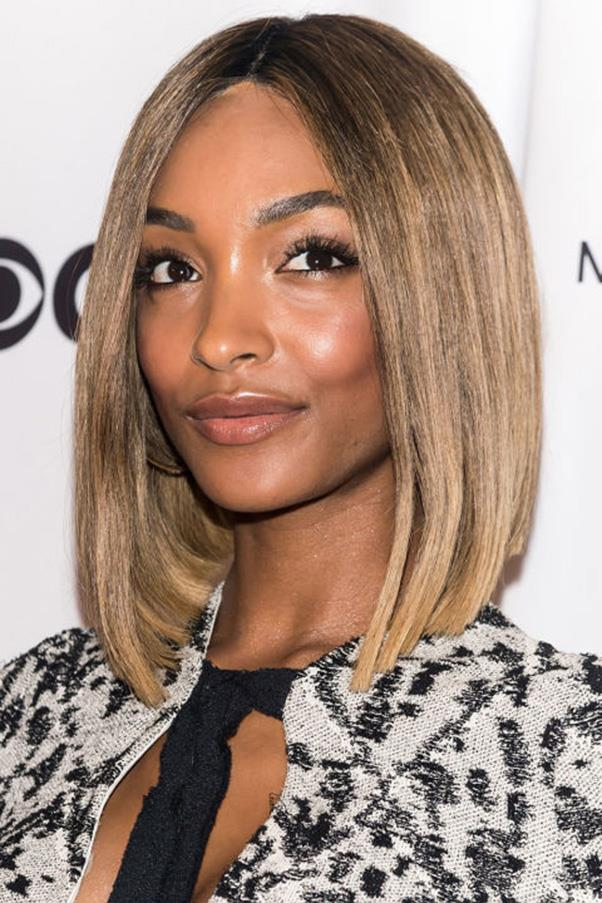<strong>7. Supermodel Sleek</strong><br><br> A slight curve makes Jourdan Dunn's blunt bob a little less severe.