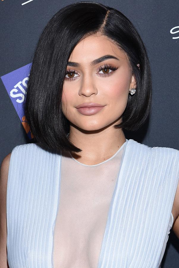 <strong>8. Asymmetrical Bob </strong><br><br> Kylie Jenner debuted this asymmetrical bob earlier this year.