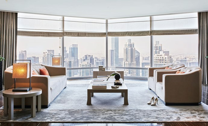 "We wouldn't complain about a view like that. <br><br> Image: <a href=""http://www.armanihoteldubai.com/"">Armani Hotel Dubai</a>"