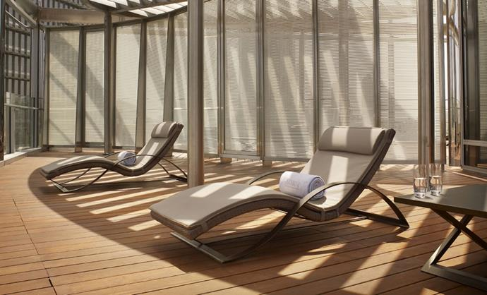 "Plenty of room to catch some rays. <br><br> Image: <a href=""http://www.armanihoteldubai.com/"">Armani Hotel Dubai</a>"