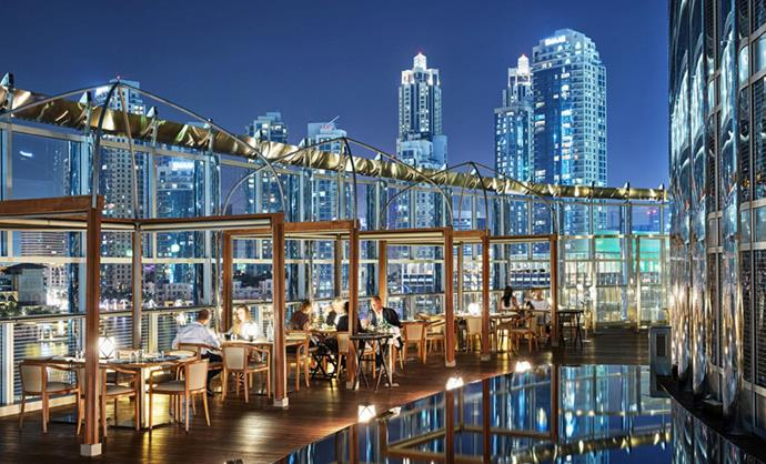 "The restaurant is just as spectacular. <br><br> Image: <a href=""http://www.armanihoteldubai.com/"">Armani Hotel Dubai</a>"