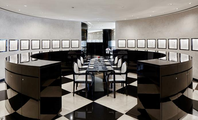 "Monochrome design is the centre of this hotel. <br><br> Image: <a href=""http://www.armanihoteldubai.com/"">Armani Hotel Dubai</a>"