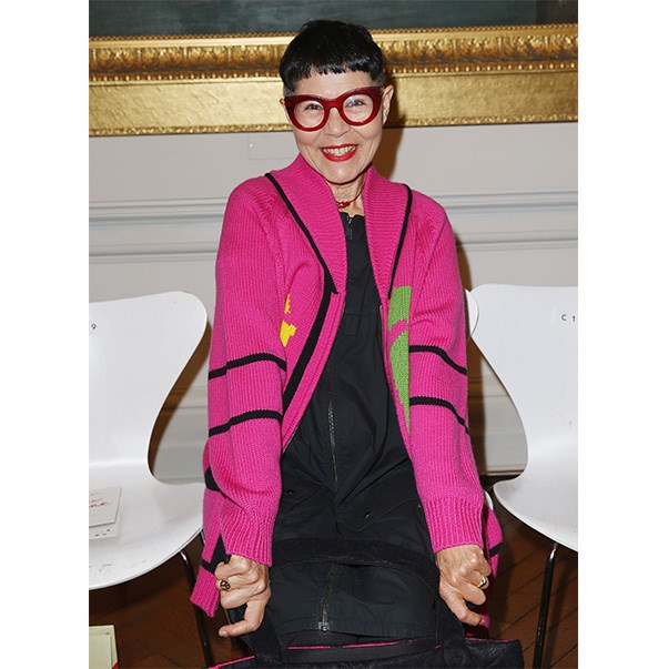 """""""Have confidence because if you don't have that, you're always going to be hiding behind that outfit; you're always going to be wearing it exactly how the designer presented it because you don't trust yourself to do anything different. Break out — make it your own. Whatever you're wearing, put your personal stamp on it."""" - Jenny Kee, 69"""