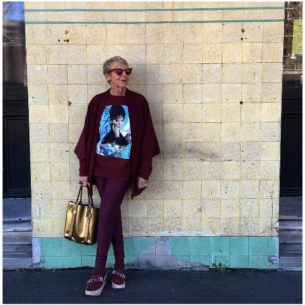 """Rules are for breaking …"" - Lesley Crawford, 60 <br><br> Image: <a href=""https://www.instagram.com/p/BGoHn8Jjjo8/"">@lesleyhasmanyhats</a>"