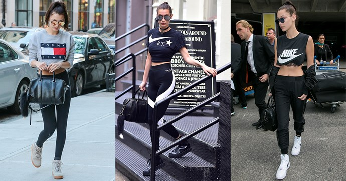 Here, we look at Bella Hadid's best off-duty athleisure looks to celebrate her announcement as the new face of Nike.