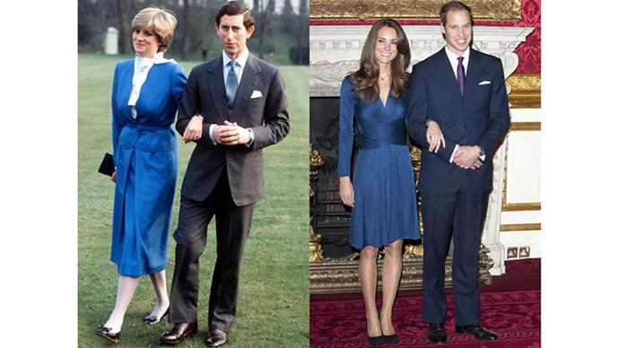 Diana and Charles announce their engagement in February 1981; Kate and William announce their engagement in November 2010.
