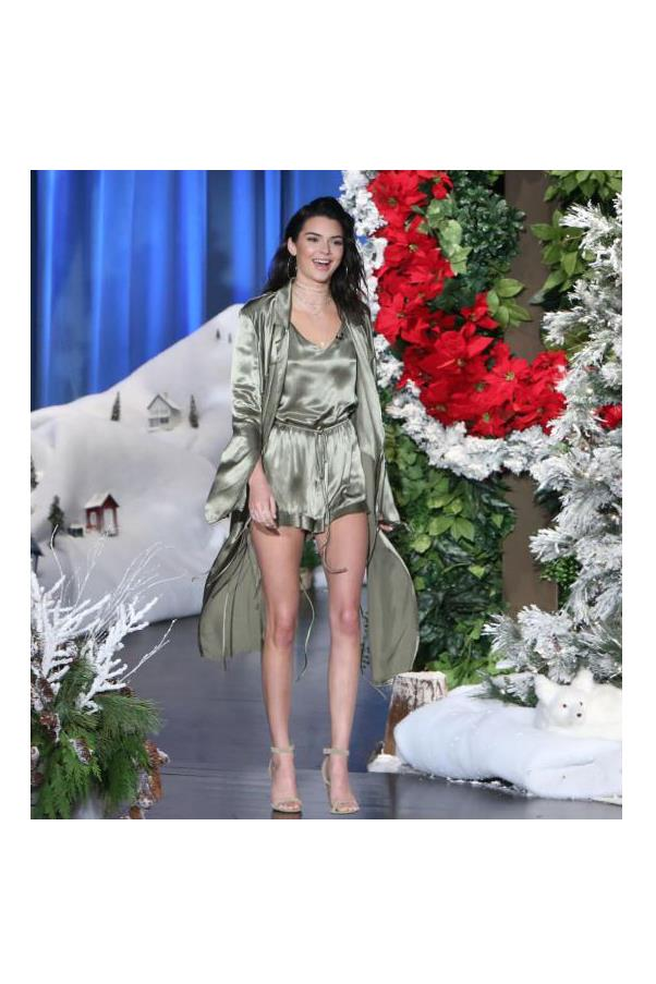 Kendall Jenner wore Bec and Bridge for her first appearance on the Ellen Show this week.