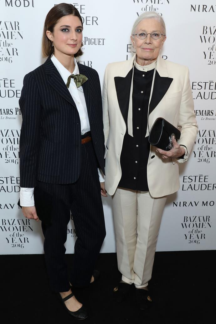 <strong>DAISY BEVAN AND VANESSA REDGRAVE</strong> <Br><Br> <strong>October 2016: </strong>Daisy Bevan and Vanessa Redgrave prove that the trouser suit can look great on anyone at any age at the <em>Harper's Bazaar</em> Women of the Year Awards.