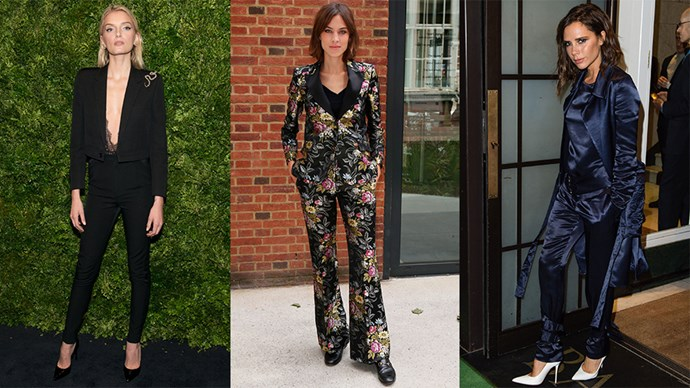 Not just Hillary Clinton can rock a pantsuit, we're seeing this trend from the red carpet to the runway, and everywhere in between. Get inspired here.