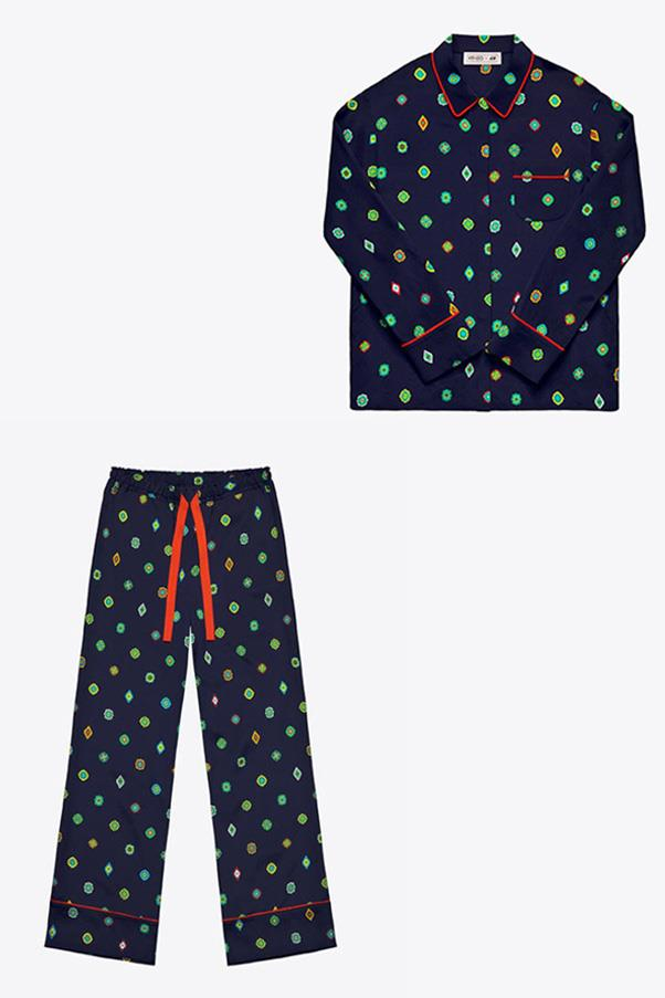 """Women's shirt, $79.99, and trousers, $89.99 by Kenzo x H&M, available in-store at <a href=""""http://www.hm.com/au"""">H&M</a>"""