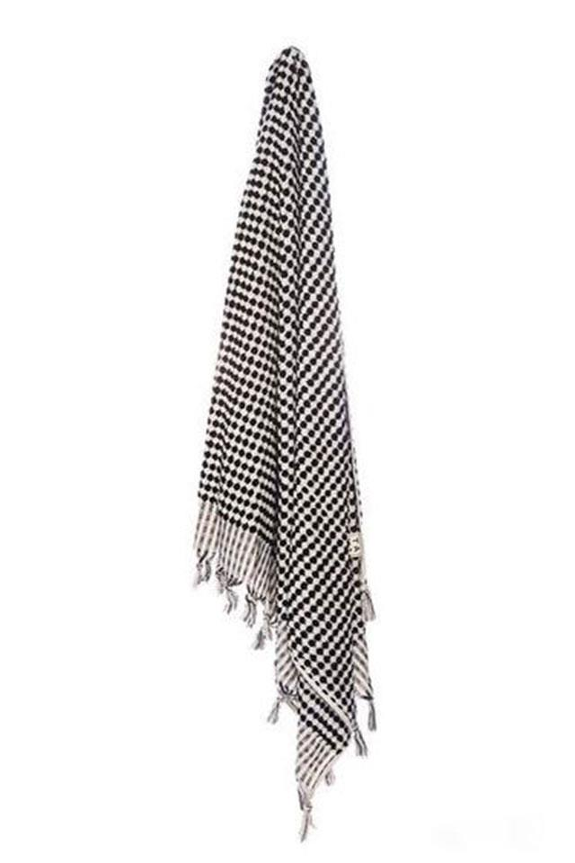 """Slinkii cotton towel, $180 from <a href=""""http://slinkii.com/collections/accessories/products/aegean-cotton-checker-towel"""">Slinkii</a>."""