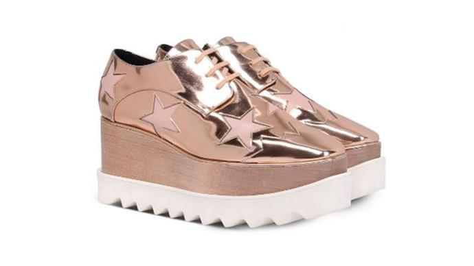 "Stella McCartney shoes, $1,130 from <a href=""http://www.stellamccartney.com/au/stella-mccartney/wedges_cod44931629hr.html"">Stella McCartney</a>."