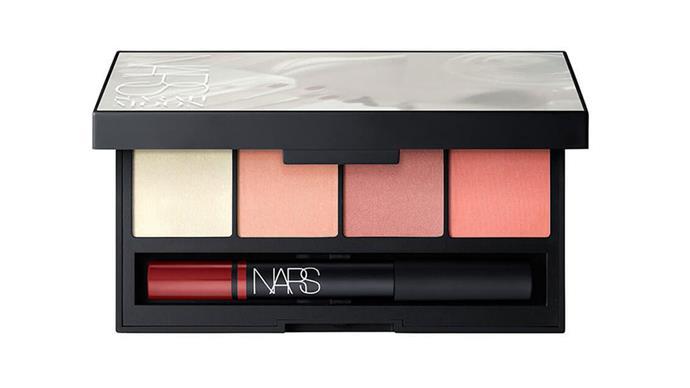 "NARS lip palette, $85 from <a href=""http://mecca.com.au/nars/sarah-moon-collection-recurring-dare-cheek-lip-palette/I-025290.html?cgpath=gifts#prefn1=brand&prefv1=Nars&start=1"">Sephora</a>."