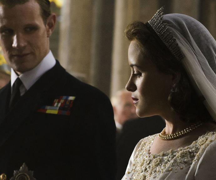 the crown queen elizabeth wedding
