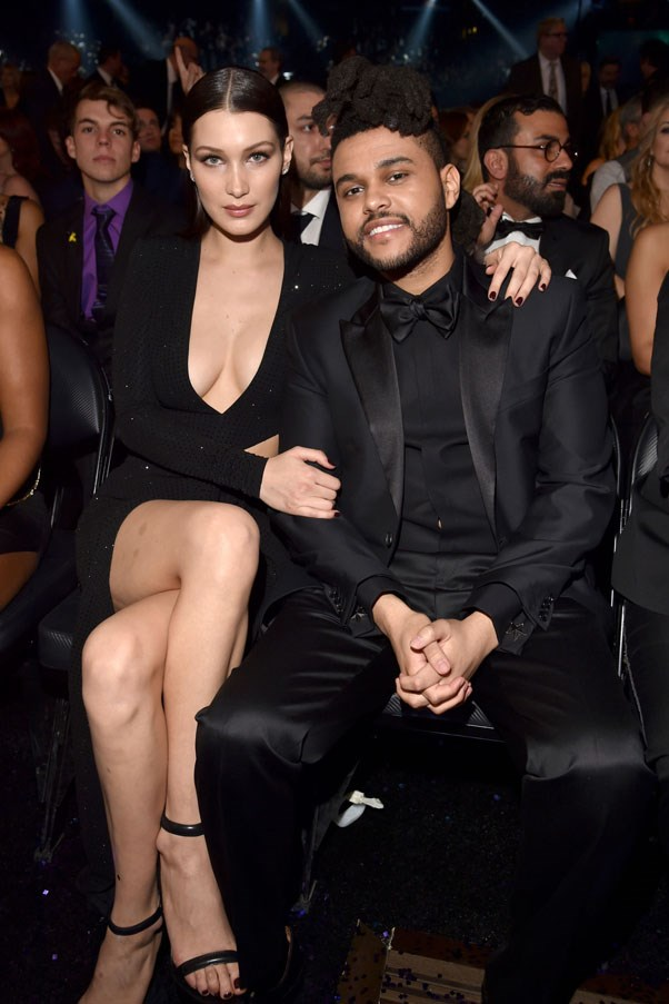 """<strong>Bella Hadid and The Weeknd</strong> <br><br> Hadid and The Weeknd quickly rose as the It supermodel-musician couple of the moment when they began dating in 2015. The model starred in his music video for """"In The Night"""" and the couple attended several award shows arm-in-arm throughout their relationship. But just two weeks ago, it was announced that the young couple called it quits amicably, citing busy work schedules. Later this month, they'll cross paths again at the Victoria's Secret Fashion show, where Hadid will be walking for the first time and The Weeknd will be performing for the second year in a row."""