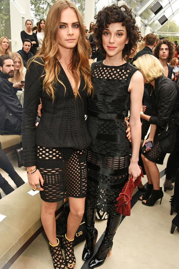 "<strong>Cara Delevingne and St. Vincent</strong> <br><br> The ultra-stylish couple dated for 18 months, gracing several front rows together before splitting in September. Though neither spoke out publicly on the breakup, sources reported that ""pressures of the long-distance romance just became too much."" Since then, St. Vincent (née Annie Clark), has reportedly started dating Kristen Stewart."