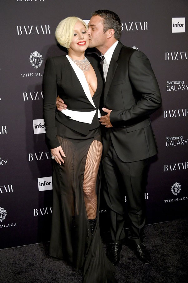 """<strong>Lady Gaga and Taylor Kinney</strong> <br><br> After more than five years together, the couple broke off their engagement over the summer. Gaga announced the news on Instagram, writing, """"Taylor and I have always believed we are soulmates. Just like all couples we have ups and downs, and we have been taking a break. We are both ambitious artists, hoping to work through long-distance and complicated schedules to continue the simple love we have always shared. Please root us on. We're just like everybody else and we really love each other."""" Since then, however, the couple has not been spotted together and the singer admitted her new song """"Perfect Illusion"""" was inspired by Kinney."""