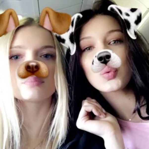 Lily Donaldson and Bella Hadid