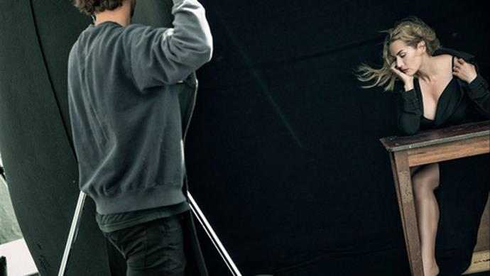 Kate Winslet, behind the scenes.