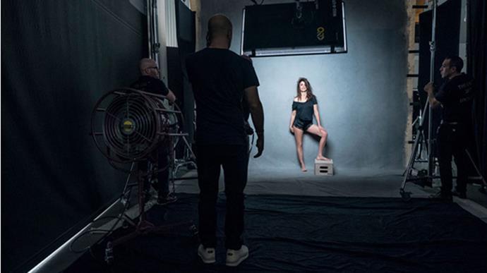 Penelope Cruz, behind the scenes.
