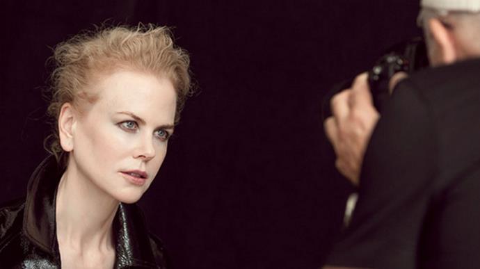 Nicole Kidman, behind the scenes.