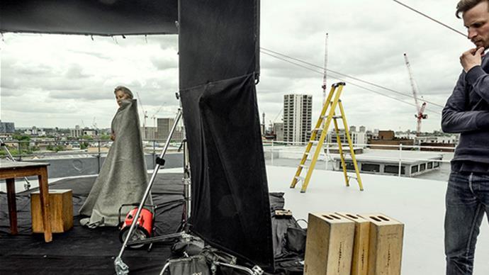 Helen Mirren, behind the scenes.