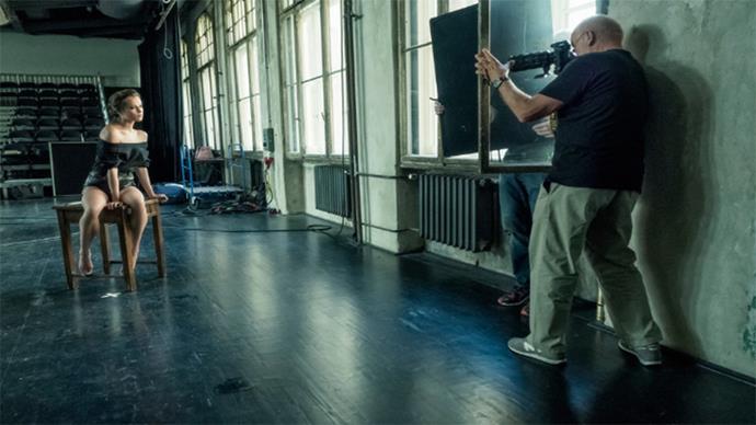 Alicia Vikander, behind the scenes.