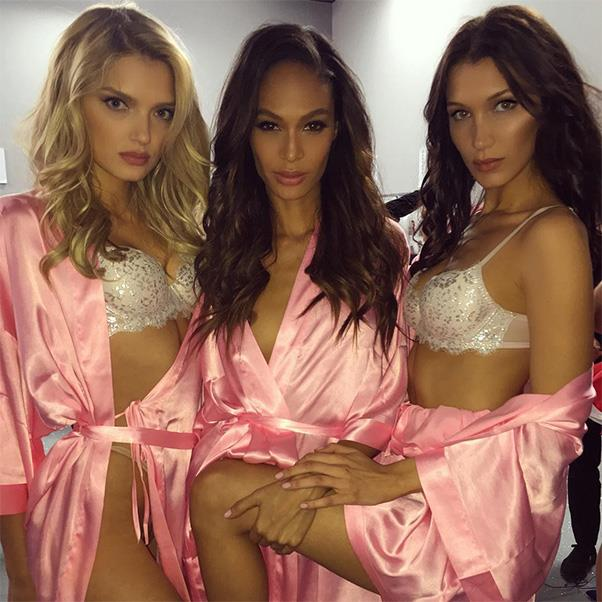 "Lily Donaldson, Joan Smalls and Bella Hadid<br><br> Instagram: <a href=""https://www.instagram.com/p/BNcobYZAYvY/?taken-by=bellahadid"">@bellahadid</a>"