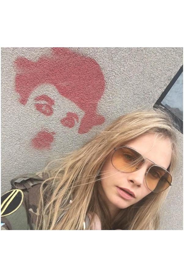 "<strong>2. Cara Delevingne</strong> <br><br> Gained 14.3 million followers. <br><br> <a href=""https://www.instagram.com/p/BDWv9JUjKHB/"">@caradelevingne</a>"